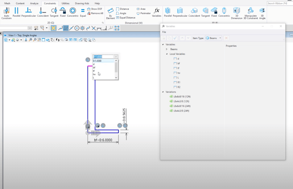 Microstation Constraint Based and Parametric Modeling Settings
