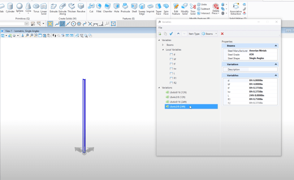 Microstation Constraint Base and Parametric Modeling Variables